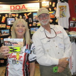 Betty with fishing legend Mark Nichols, inventor of DOA Lures