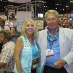Betty with fishing TC Star Roland Martin